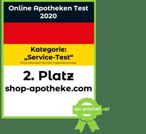 Platz2 shop-apotheke Kategorie Service Test im Online Apotheke Test