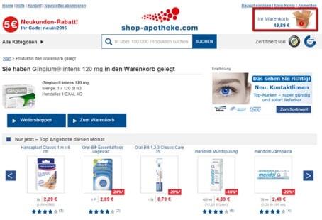shop apotheke Gutschein einlösen Part 2