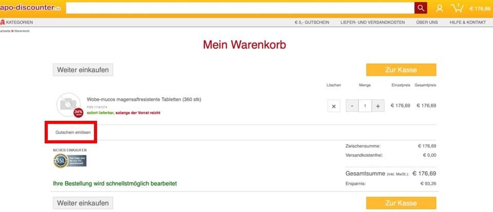 Gutschein Deutsche Internetapotheke 2019
