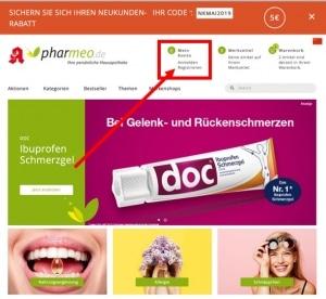 Pharmeo Registrieren anmelden um gutschein einzulösen