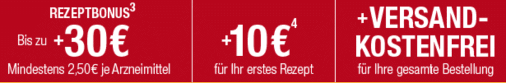 Bis zu 30 Euro Rezeptbonus apo.com