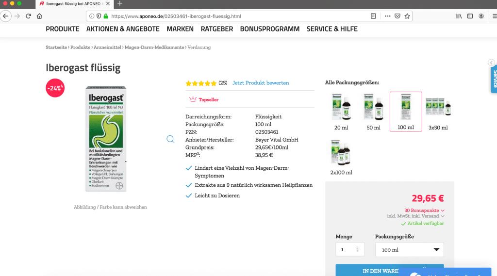 Arzneimittel Preisvergleich dynamic Pricing Beispiel Direkteinstieg