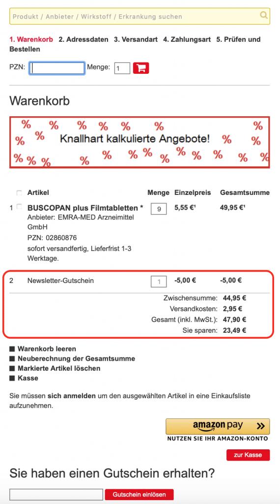 biber-express Gutscheinrabatt