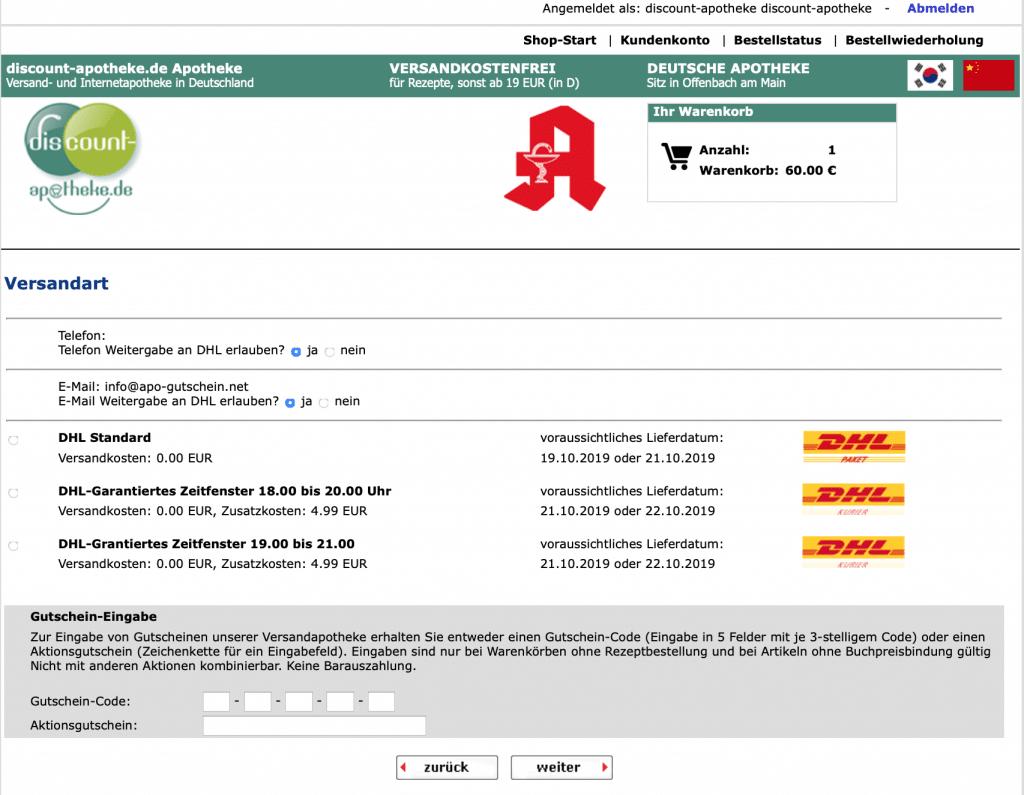 discount-apotheke Gutscheine