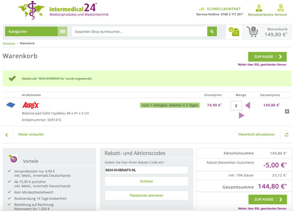 intermedical24 Rabattcode