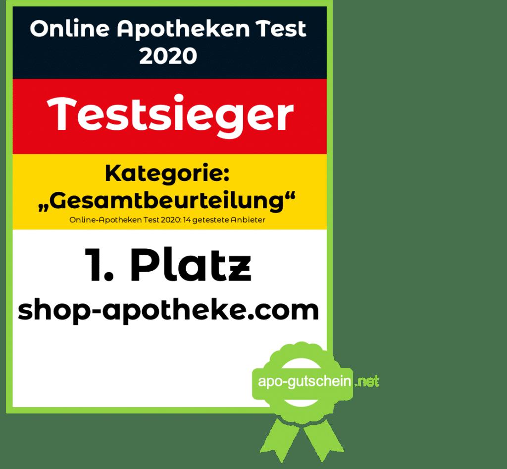 Online Apotheke Test - Apothekenvergleich - Testsieger Gesamtburteilung 2020