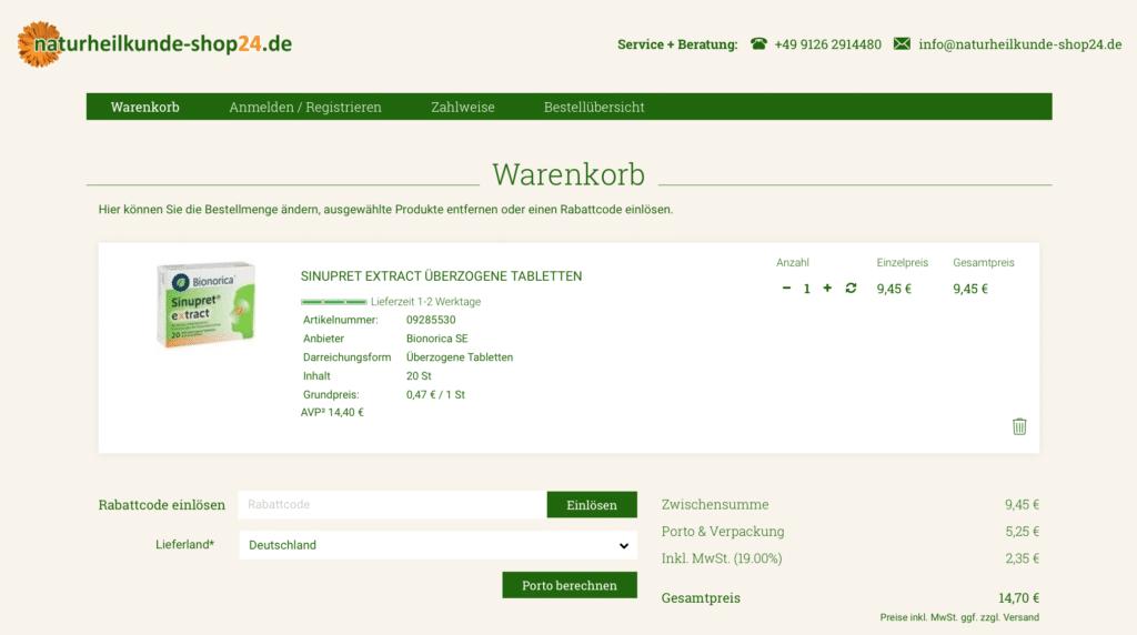 naturheilkunde-shop24 Gutschein Geld sparen