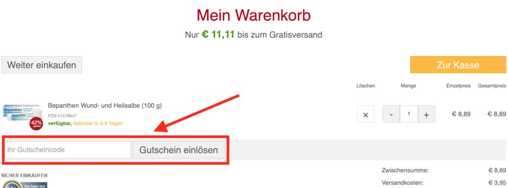 Apotheke Online Gutscheincode
