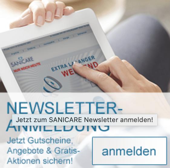 Sanicare 5 Euro Gutschein bei Newsletter-Anmeldung