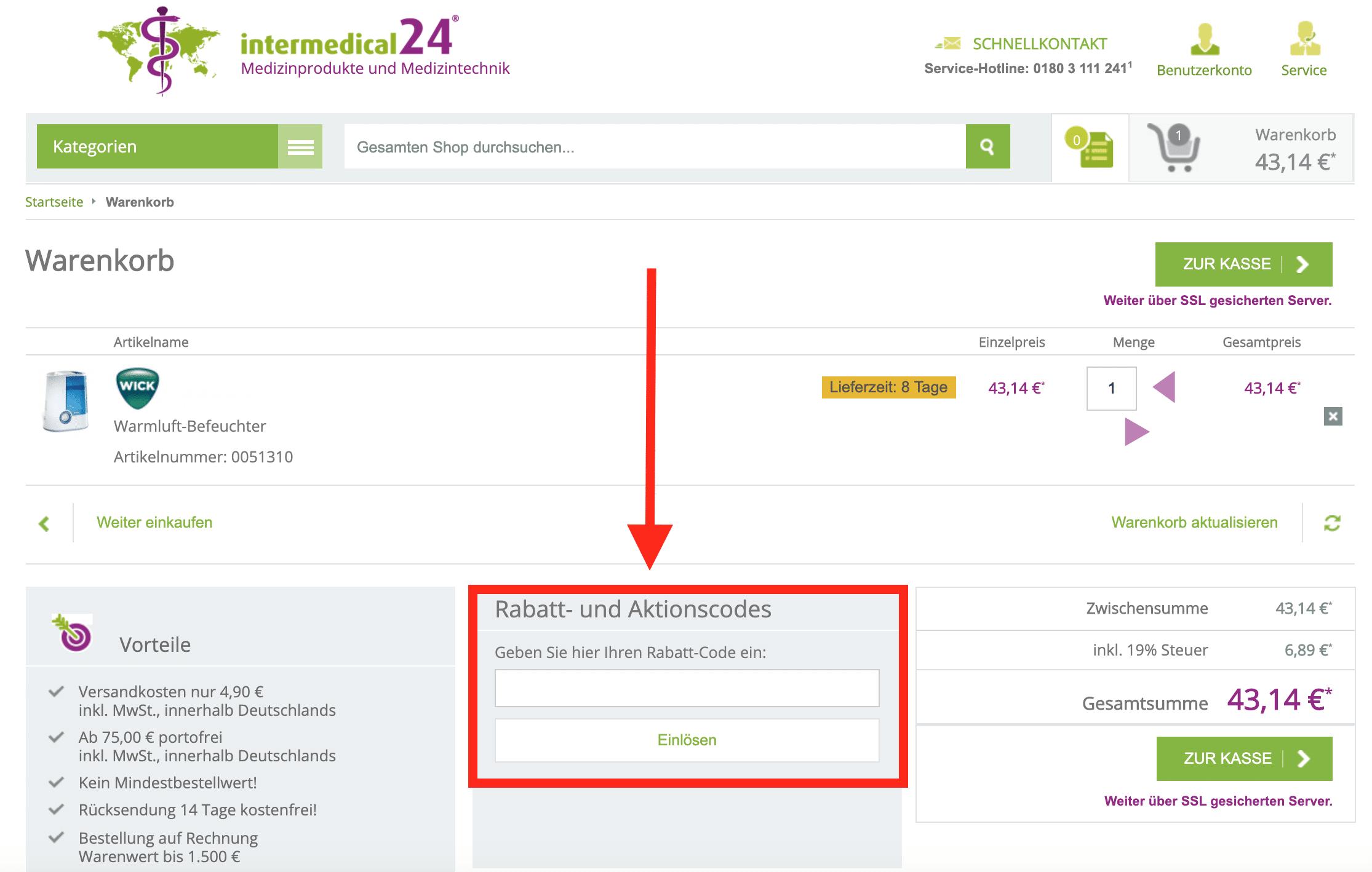 Gutscheincode Online Apotheke