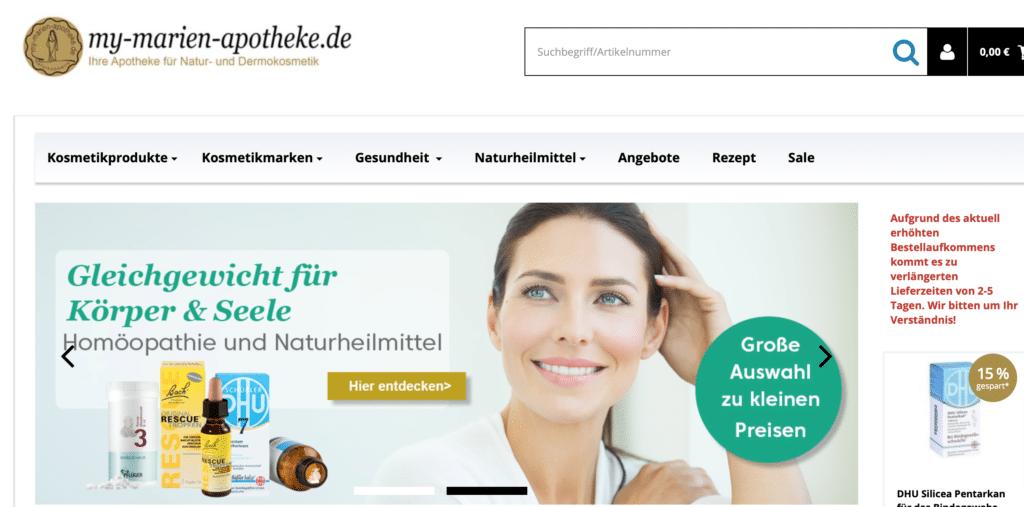 my-marien-apotheke - ideal zum Sparen mit Gutschein
