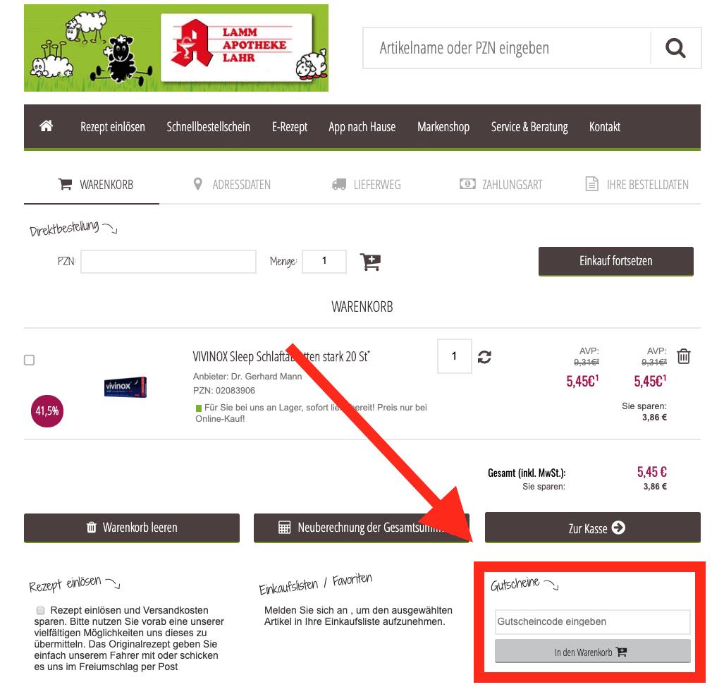 shop.lamm-apotheke.com Gutscheine