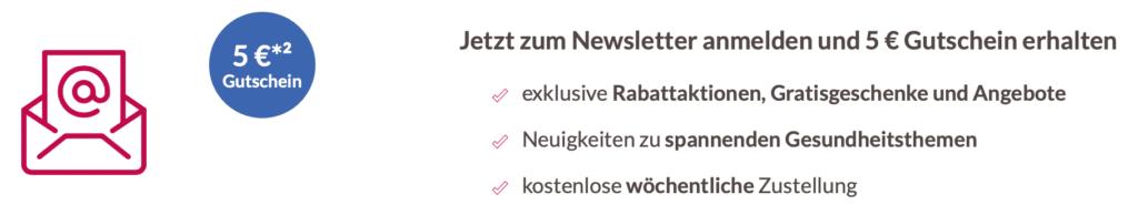 zurrose Gutschein 5 Euro bei Newsletteranmeldung