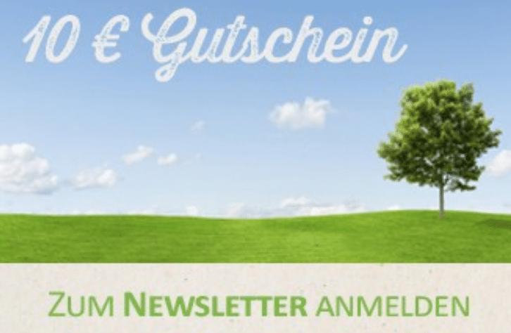 Gesundheitsmanufaktur 10€ Gutschein für Newsletteranmeldung