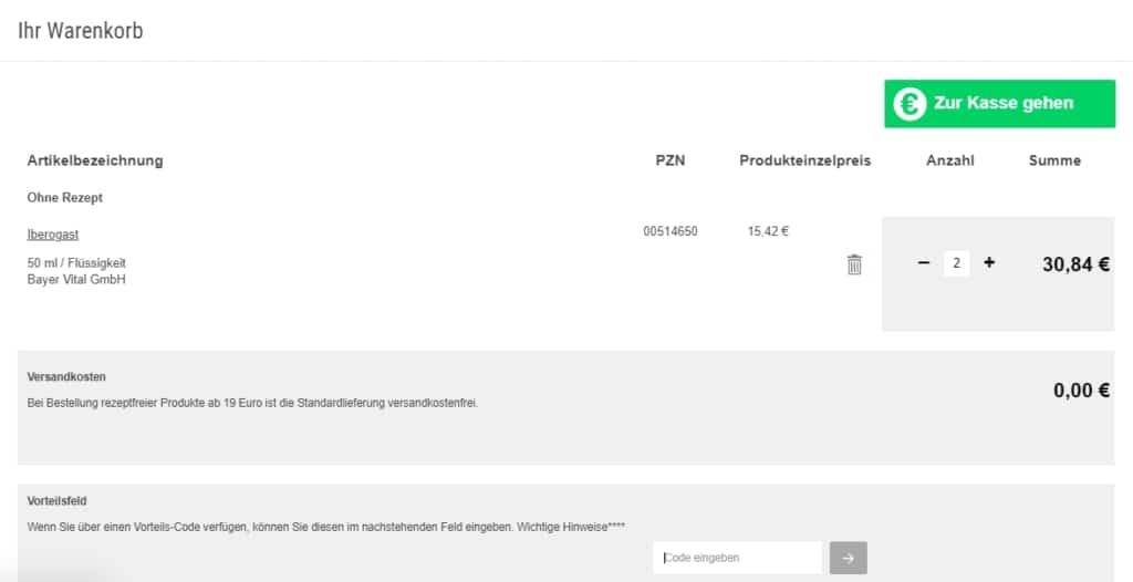 DocMorris Gutscheine - rabattcode einfuegen